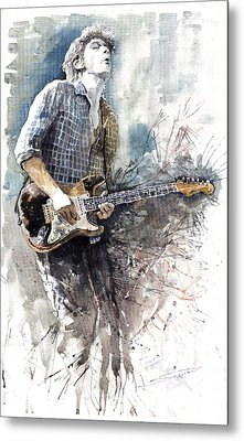 Jazz Rock John Mayer 05  Metal Print by Yuriy  Shevchuk