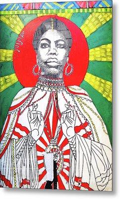 Jazz Saint Metal Print by Ethna Gillespie