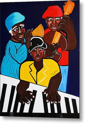 Jazz Sunshine Band Metal Print by Nora Shepley