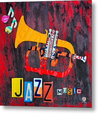 #jazz #trumpet #original #louisiana Metal Print