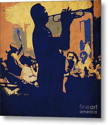 Jazz Trumpet Player Metal Print