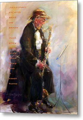 Jazzman Metal Print by Ann Bailey