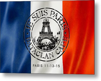 Je Suis Paris Metal Print by Gary Grayson