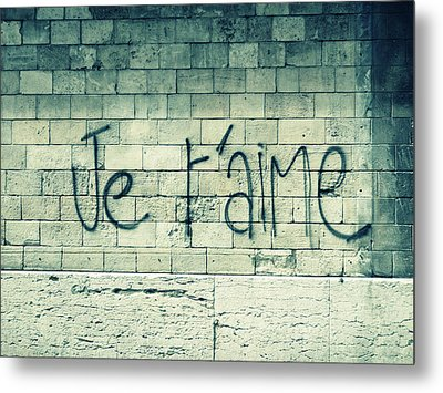 Je T'aime Metal Print by Will Grant