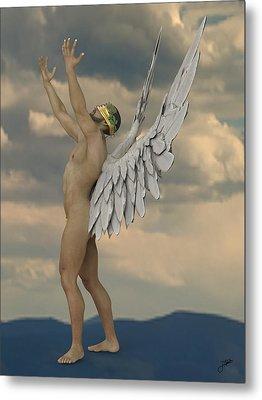 Jealous Angel Metal Print by Joaquin Abella