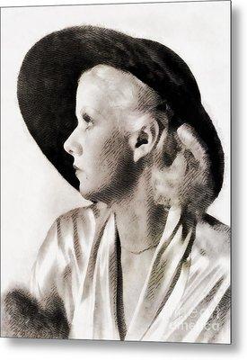 Jean Harlow, Vintage Actress Metal Print by John Springfield