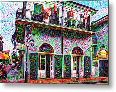 Jean Lafittes Old Absinthe House 1807 - New Orleans Metal Print by Bill Cannon