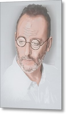 Metal Print featuring the mixed media Jean Reno by TortureLord Art