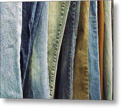 Jeans Metal Print by Anna Villarreal Garbis