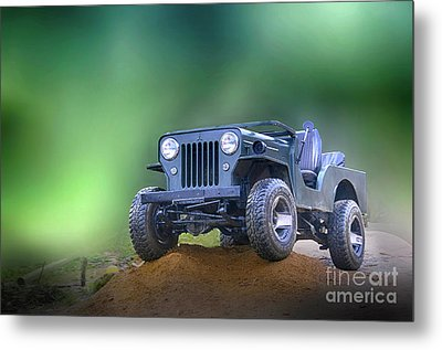 Metal Print featuring the photograph Jeep by Charuhas Images