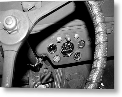 Jeep Gauges 2 Metal Print by Gina  Zhidov