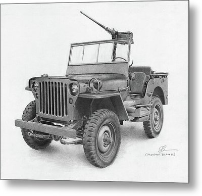 Jeep Willys Metal Print by Christopher Bracken