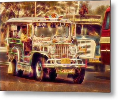 Jeepney Manila Metal Print by David French