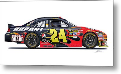 Jeff Gordon Nascar Image Metal Print by Alain Jamar