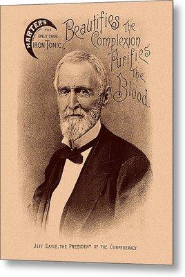 Jefferson Davis Vintage Advertisement Metal Print