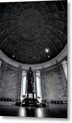 Jefferson Statue In The Memorial Metal Print by Andrew Soundarajan
