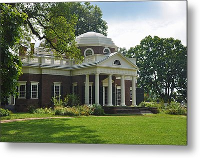 Jeffersons Monticello Metal Print by Bill Cannon