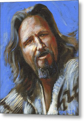 Jeffrey Lebowski - The Dude Metal Print by Buffalo Bonker