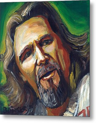 Jeffrey Lebowski The Dude Metal Print by Buffalo Bonker