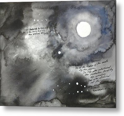 Jehovah Stretched Out The Heavens Metal Print