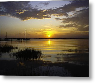 Jekyll Island Sunset Metal Print
