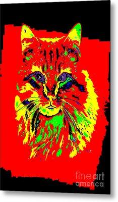 Jekyll The Cat Metal Print