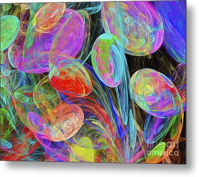 Metal Print featuring the digital art Jelly Beans And Balloons Abstract by Andee Design