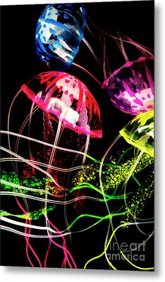 Jelly Fish Trails Metal Print by Jorgo Photography - Wall Art Gallery