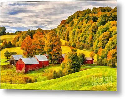 Jenne Farm Vermont Painting Metal Print by Edward Fielding