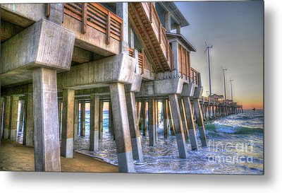 Jennette's Pier Metal Print by Scott and Dixie Wiley