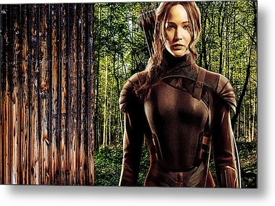 Jennifer Lawrence Collection Metal Print by Marvin Blaine