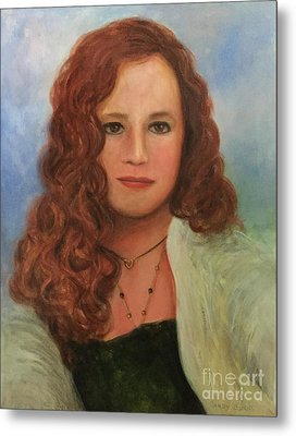 Metal Print featuring the painting Jennifer by Randol Burns