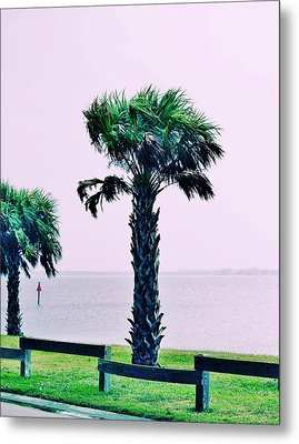 Jensen Causeway With Cross Processing Metal Print by Don Youngclaus