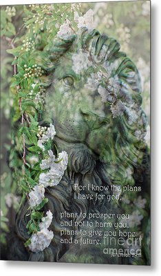 Jeremiah 29 - 11 Scriptural Art Metal Print by Ella Kaye Dickey