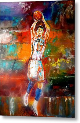 Jeremy Lin New York Knicks Metal Print by Leland Castro