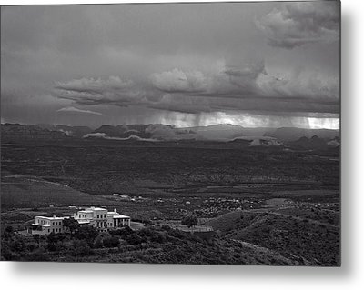 Metal Print featuring the photograph Jerome State Park With Sedona Storm by Ron Chilston