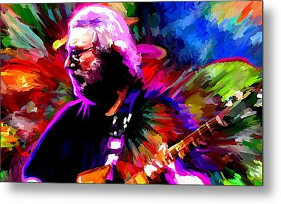 Jerry Garcia Grateful Dead Signed Prints Available At Laartwork.com Coupon Code Kodak Metal Print by Leon Jimenez