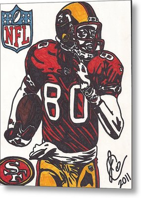Metal Print featuring the drawing Jerry Rice by Jeremiah Colley