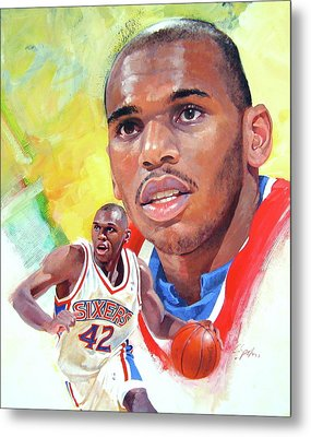 Jerry Stackhouse Metal Print by Cliff Spohn