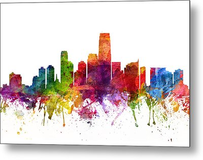 Jersey City Cityscape 06 Metal Print by Aged Pixel