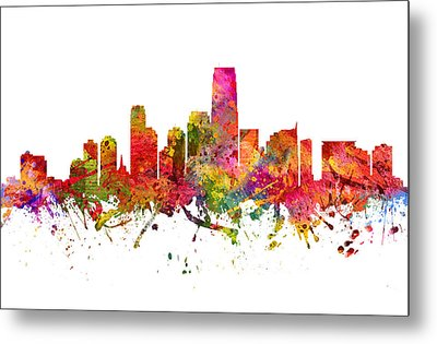 Jersey City Cityscape 08 Metal Print by Aged Pixel