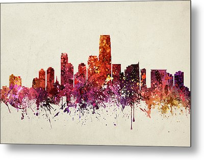 Jersey City Cityscape 09 Metal Print by Aged Pixel
