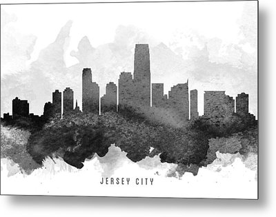 Jersey City Cityscape 11 Metal Print by Aged Pixel