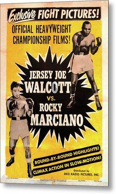 Jersey Joe Walcott Vs Rocky Marciano Metal Print by Bill Cannon