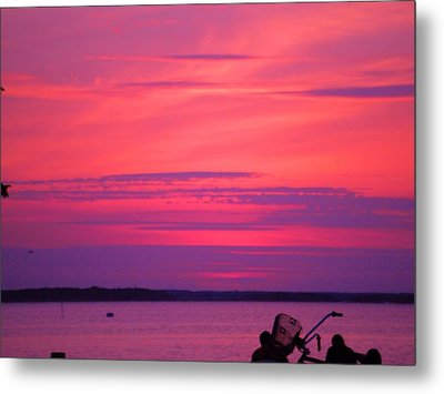 Metal Print featuring the photograph Jersey Sunset by Susan Carella