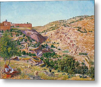 Jerusalem And The Valley Of Jehoshaphat  Metal Print by MotionAge Designs