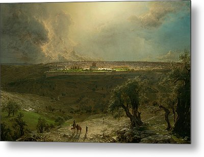 Jerusalem From The Mount Of Olives Metal Print