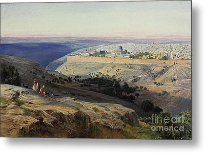 Jerusalem From The Mount Of Olives Sunrise Metal Print by Celestial Images