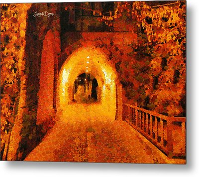 Jerusalem Gate - Da Metal Print