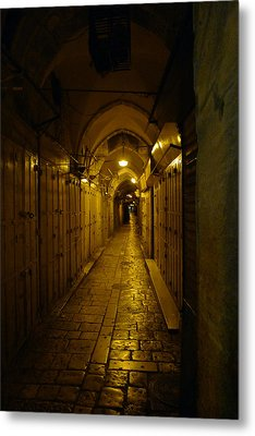 Metal Print featuring the photograph Jerusalem Of Copper 1 by Dubi Roman